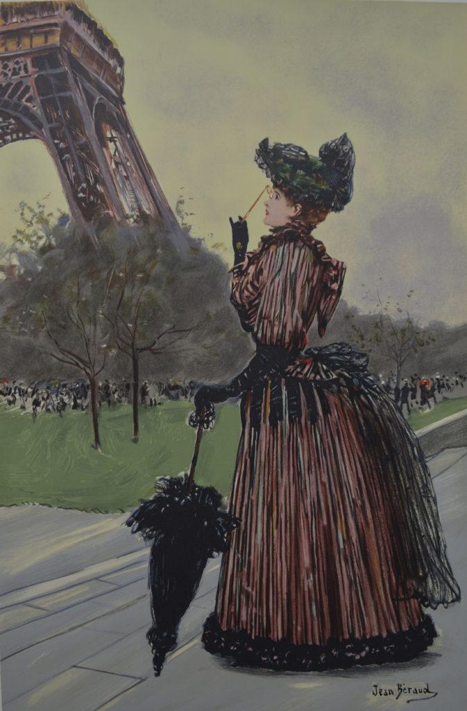 """Béraud, """"Devant la Tour Eiffel"""", tableau vendu par la galerie Offenstadt."""