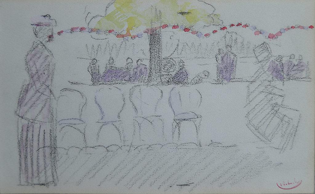 "Cross, ""Jardin du Ranelagh"", tableau vendu par la galerie Offenstadt."