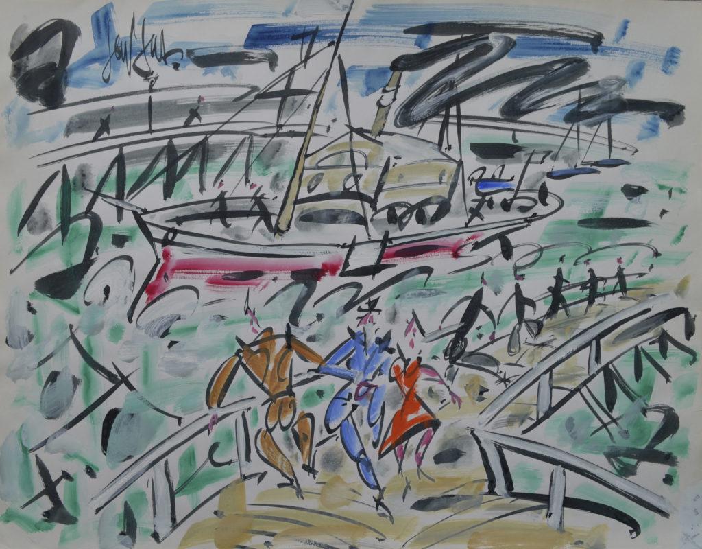 """Gen Paul, """"L'Embarcadère de Genève"""", tableau vendu par la galerie Offenstadt."""