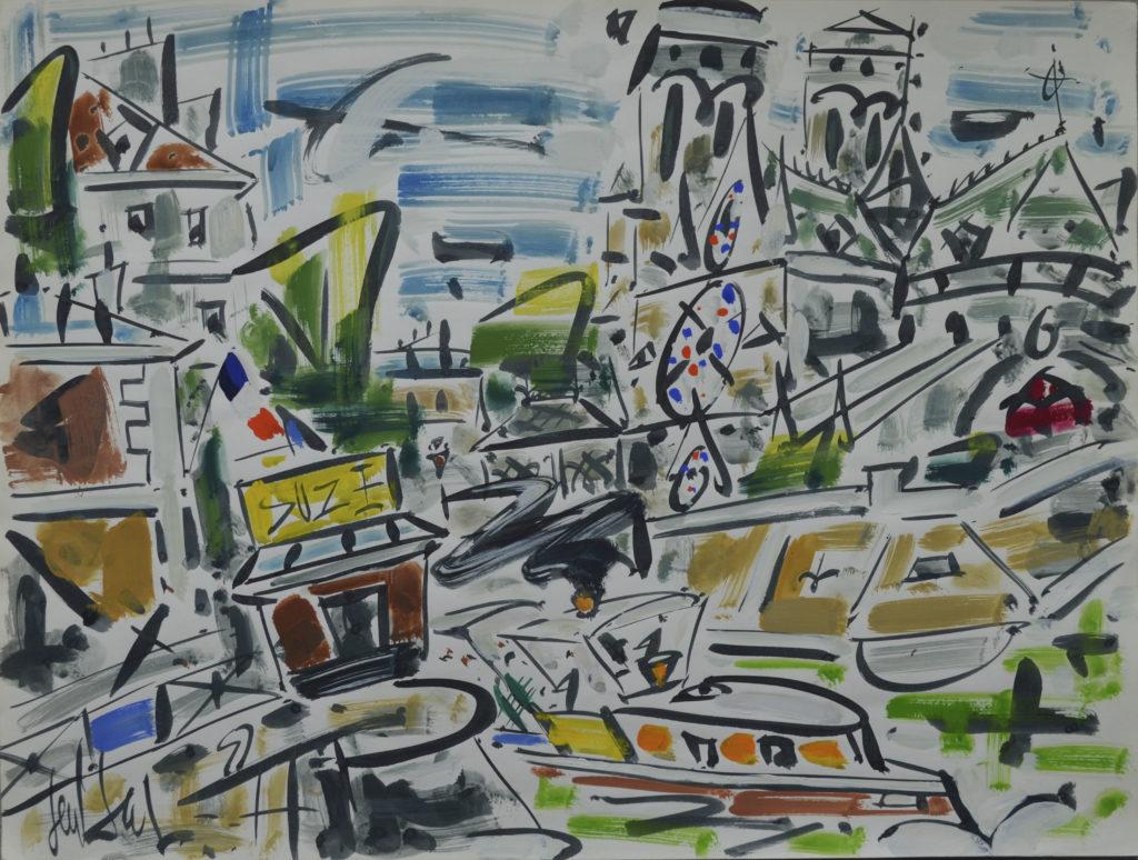 """Gen Paul, """"Notre-Dame de Paris"""", tableau vendu par la galerie Offenstadt."""