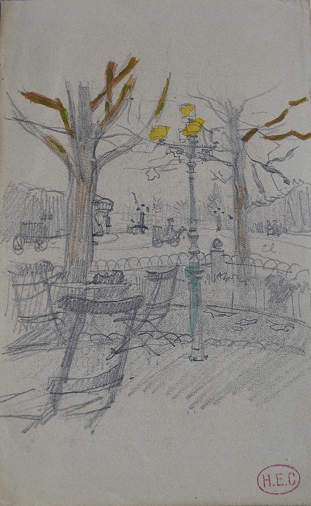 Cross, «Place à Paris», tableau vendu par la galerie Offenstadt.