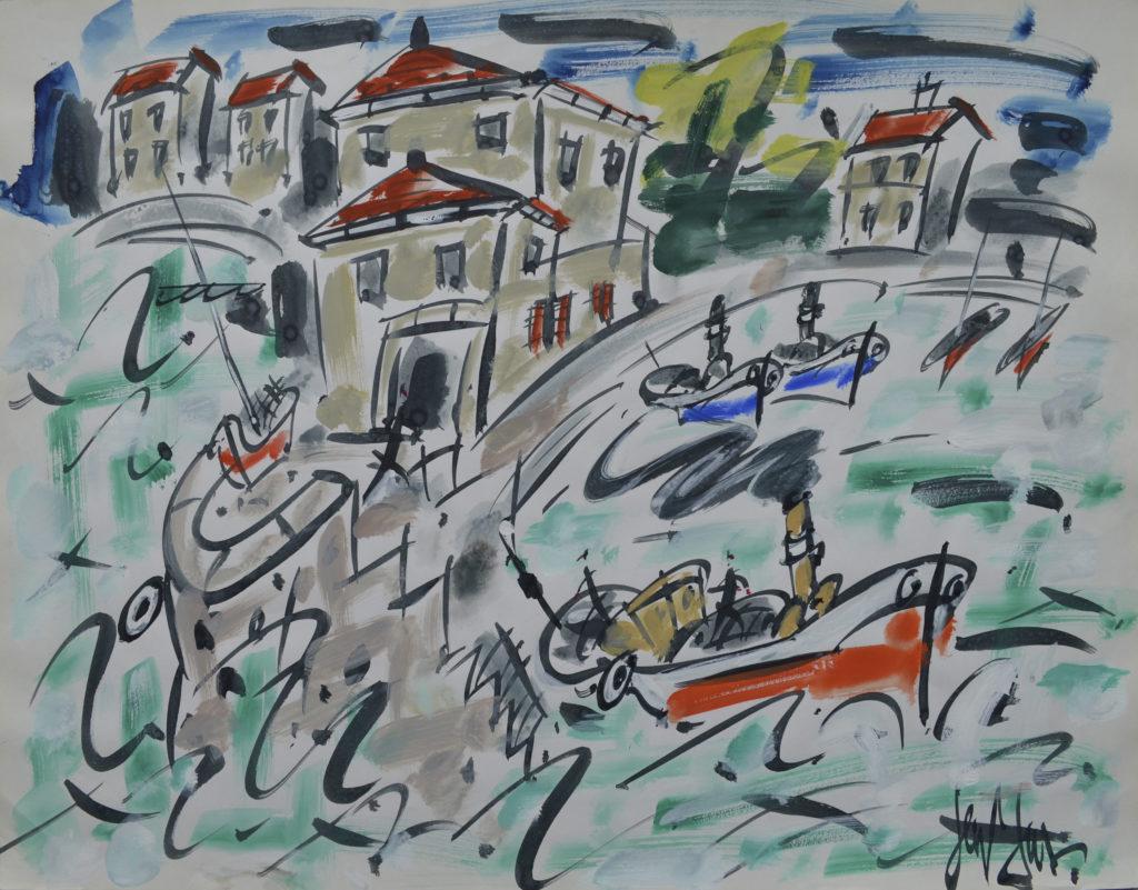 Gen Paul, «Port du Sud de la France», tableau vendu par la galerie Offenstadt.