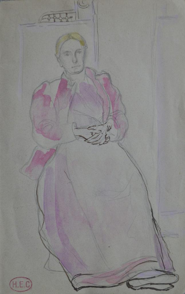 """Cross, """"Portrait de femme assise"""", tableau vendu par la galerie Offenstadt."""