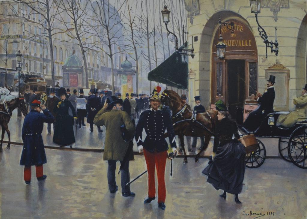 Béraud, «Le boulevard des Capucines et le théâtre de Vaudeville», tableau vendu par la galerie Offenstadt.