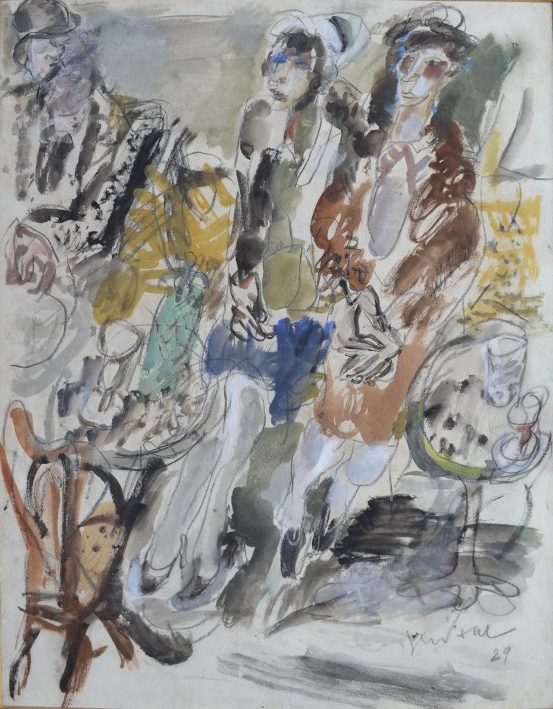 """Gen Paul, """"Scène de café"""", tableau vendu par la galerie Offenstadt."""