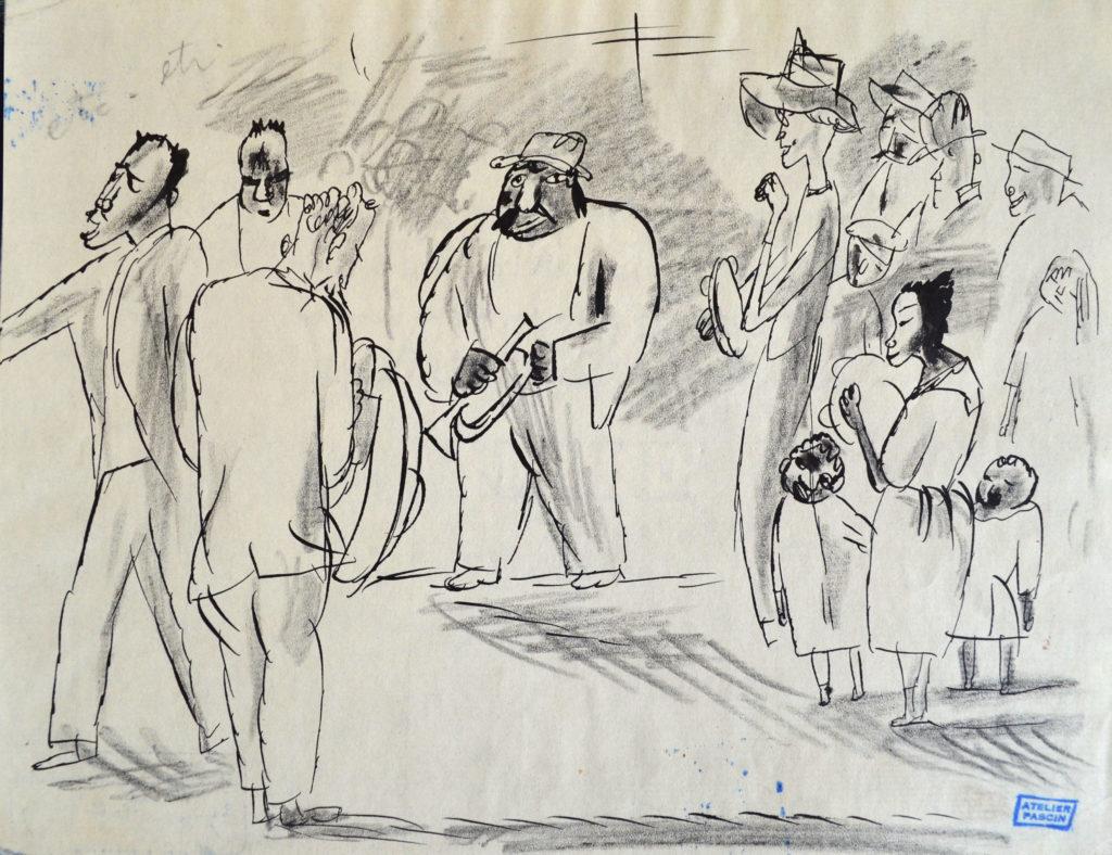 Pascin, «Scène à La Havane», tableau vendu par la galerie Offenstadt.