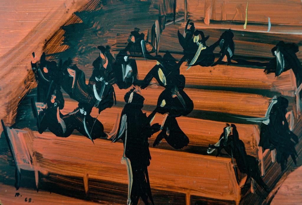 """Hélion, """"Théâtre en mai"""", tableau vendu par la galerie Offenstadt."""